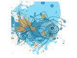 Blue Fish Prints by Irena Orlov
