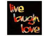 Live Laugh Love I Poster by Irena Orlov