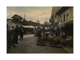A Vegetable Vendor in One of the Streets of Skopje Photographic Print by Hans Hildenbrand