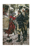 A Painting Shows George and Martha Washington in the Snow Giclee Print by Louis S. Glanzman