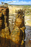 A Painting Depicts the Ancient Kushites Using Scaffolding Giclee Print by James M. Gurney