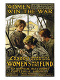 Women Are Working Day & Night to Win the War Prints