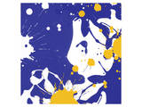 Yellow Violet Prints by Irena Orlov