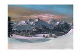 A Southern Sunrise View of Snow Covered Cascades from Tatoosh Range Giclee Print by Franklin Price Knott