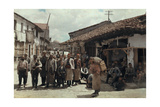 Villagers Photographed in the Streets of Skopje Photographic Print by Hans Hildenbrand