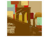 Brooklyn Bridge in New York Prints by  Yashna