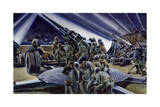 Searchlights and Listening Devices Help Soldiers Fire Accurately Giclee Print by Andre Durenceau
