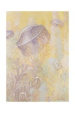 A Painting of Two Different Species of Jellyfish Giclee Print by William H. Crowder