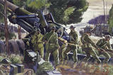 Soldiers Work Together to Load a 155Mm Gun in the Field Giclee Print by Andre Durenceau