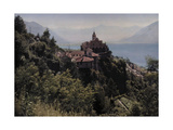 A View of the Madonna Del Sasso Monestary on Lake Maggiore Photographic Print by Hans Hildenbrand