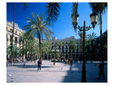 Placa Real in Barcelona Spain Prints