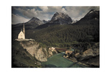 A Scenic View of the Inn River and Inn Valley Photographic Print by Hans Hildenbrand