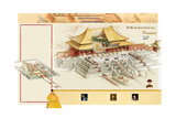 An Illustration of the Hall of Supreme Harmony in the Forbidden City Giclee Print by Bruce Morser