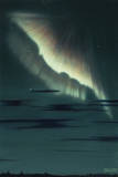 A Double Drape-Like Formation Is Observed in an Aurora in Norway Giclee Print by William H. Crowder