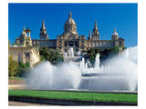 Fountains Natl Museum Barcelona Prints
