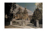 A View of a Russian Church's Large Domes in Yalta from the Driveway Photographic Print by Hans Hildenbrand