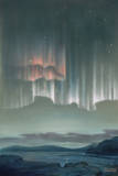 Drape-Like Shapes are Formed by Aurora Australis Near Antarctica Giclee Print by William H. Crowder