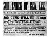 Surrender of General Lee at the Appomattox Posters