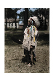 An Informal Portrait of Red Tomahawk Photographic Print by Edwin L. Wisherd