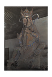 The Statue of Dhritarashtra Sits in the Hall of Heavenly Kings Giclee Print by Franklin Price Knott