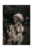 A Portrait of the Indian Red Tomahawk Photographic Print by Edwin L. Wisherd