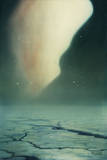 The Aurora Borealis Occurs over the Ice Flows of Norway Giclee Print by William H. Crowder