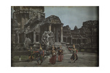 Cambodian Dancers Perform on the Terrace at Wat Angkor Photographic Print by W. Robert Moore