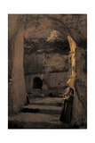 A Married Woman of Bethlehem Stands in the Entrance to a Tomb Photographic Print by Hans Hildenbrand