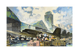 Men Load Freight onto Military Air Transport Planes Giclee Print by Thornton Oakley