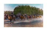 Painting of a Caravan of Camels Walks Single File and Carrying Packs Giclee Print by H. C. and J. H. and Deng White and Bao-Ling