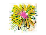 Sunny Splash Flower Print by Elle Stewart