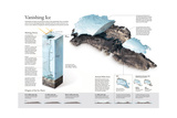 Thickness and Melt Area of Greenland's Ice Sheet Giclee Print by Alejandro Tumas