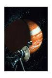 Voyager 1 with Camera and Antenna Trained on Jupiter Giclee Print by Vincent Difate