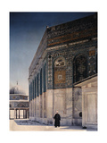 A View of the Dome of the Chain and the Dome of the Rock in Jerusalem Photographic Print by Maynard Owen Williams