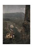 A View from the Calvarienberg into the Adige Valley Fotografisk tryk af Hans Hildenbrand