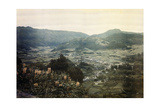 Scenic View Looking Down on Furnas; Fumaroles in the Distance Fotoprint av Wilhelm Tobien