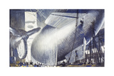 Blimps and Barrage Balloons are Made for the War Giclee Print by Thornton Oakley