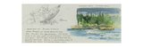 Watercolor and Sketch Documenting Artist's Canoe Trip in Canada Giclee Print by Gregory Manchess