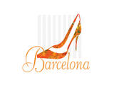 Barcelona Shoe Prints by Elle Stewart