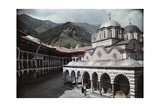 A View of the Rila Monastery Complex from the Courtyard Photographic Print by Wilhelm Tobien