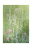 A Painting of Two Species of Comb-Jellies Giclee Print by William H. Crowder