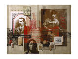 A Collage Features Famous Figures from America's Frontier Giclee Print by Fred Otnes
