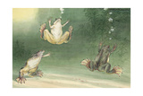The Aglossa Frogs are Aquatic, Coming Up for Air Every Few Minutes Giclee Print by Hashime Murayama