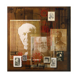 A Collage of Portraits of Inventors Giclee Print by Fred Otnes