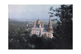 Shipka's Gilded Cupolas Commemorate Bulgaria's War of Liberation Fotoprint av Wilhelm Tobien