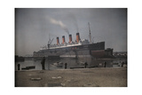"A View of the Cunard S.S. ""Mauretania"" at Dock Photographic Print by Clifton R. Adams"