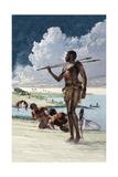 Painting of Kiffian Hunters, Farmers and Fishermen Giclee Print by Kazuhiko Sano