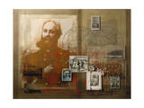 A Collage of Portraits of Famous Explorers Giclee Print by Fred Otnes
