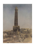 A View of the Leaning Minaret of the Great Mosque of Mosul Fotografisk tryk af Eric Keast Burke