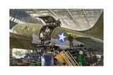 Workers Build Cargo Planes in Huge Warehouses Giclee Print by Thornton Oakley